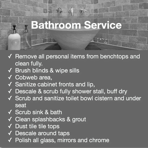 bathroom service detail duties